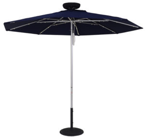 (EC845MAC-L) 7.5 ft. ILLUMISHADE Solar Powered LED Lighted Market Umbrella