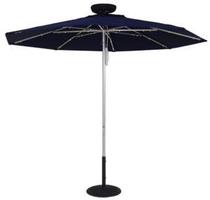 (EC845MAC-L) 7.5 ft. ILLUMISHADE Solar Powered LED Lighted Market Umbrella