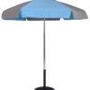 (639AT) 6.5 Ft. Aluminum Pop-Up Steel Rib Umbrella, Push Button Tilt (Flat Bottom Pole)