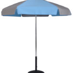 (639AT) 6.5 Ft. Aluminum Pop-Up Steel Rib Umbrella, Push Button Tilt (Flat Bottom Pole)