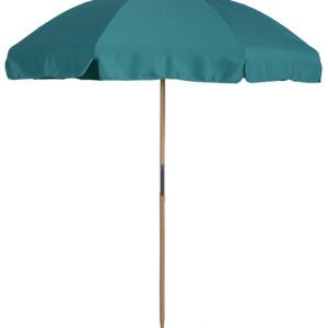(845WBWB) 7.5 ft. Wood Beach Umbrella - Steel Ribs - With Button