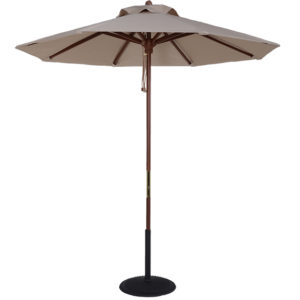 (BJ75) 7.5 ft. Wood Market Umbrella