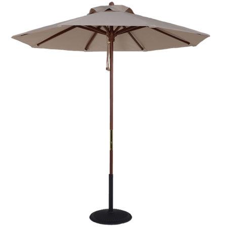(BJ75) 7.5 ft. Wood Market Umbrella