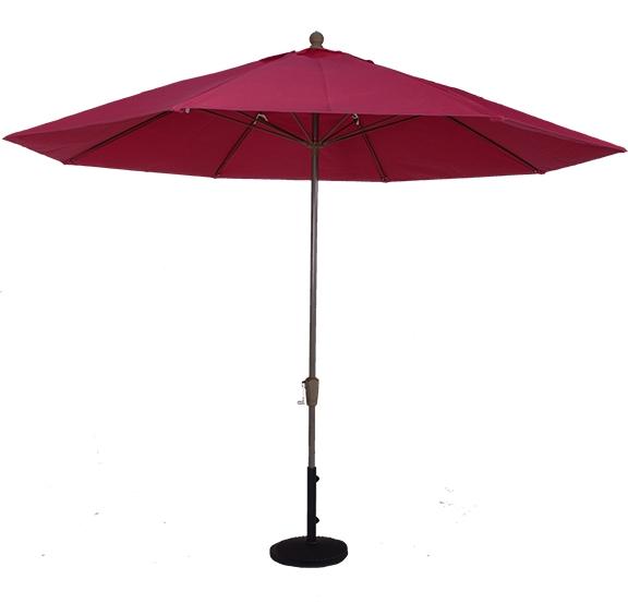 (EC11FAUTO) 11 Ft. Aluminum Market Auto-Tilt Umbrella