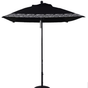 (EC65FPUL-SQU) 6 1/2' Aluminum Market Square Double Pulley Umbrella