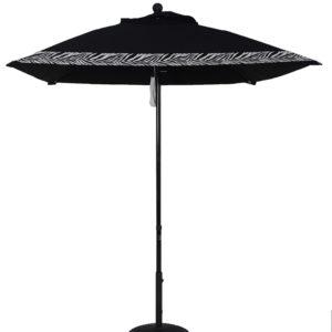(EC65FPUL-SQU) 6 1/2' Aluminum Market Square Double Pulley Umbrella