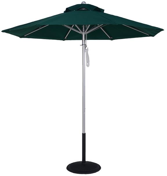 (EC845MAC) 7.5 Ft Commercial Heavy Duty Aluminum Market Umbrella