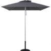 (EC845MAC-SQU) 5.5 Ft Commercial Heavy Duty Aluminum Square Market Umbrella