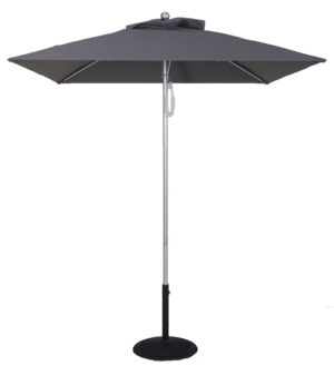 (EC845MAC-SQU) 5.5 Ft Commercial Heavy Duty Aluminum Square Market Umbrella