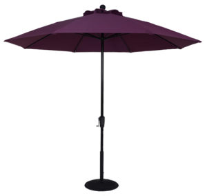 (EC9FCRK) 9 ft. Aluminum Market Crank Umbrella - No Tilt - Beach Umbrellas