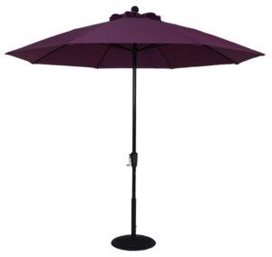 (EC9FCRK) 9 ft. Aluminum Market Crank Umbrella - No Tilt - Beach Umbrellas