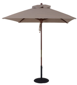 (BJ1006-SQU) 6 1/2 ft. Wood Market Square Umbrella