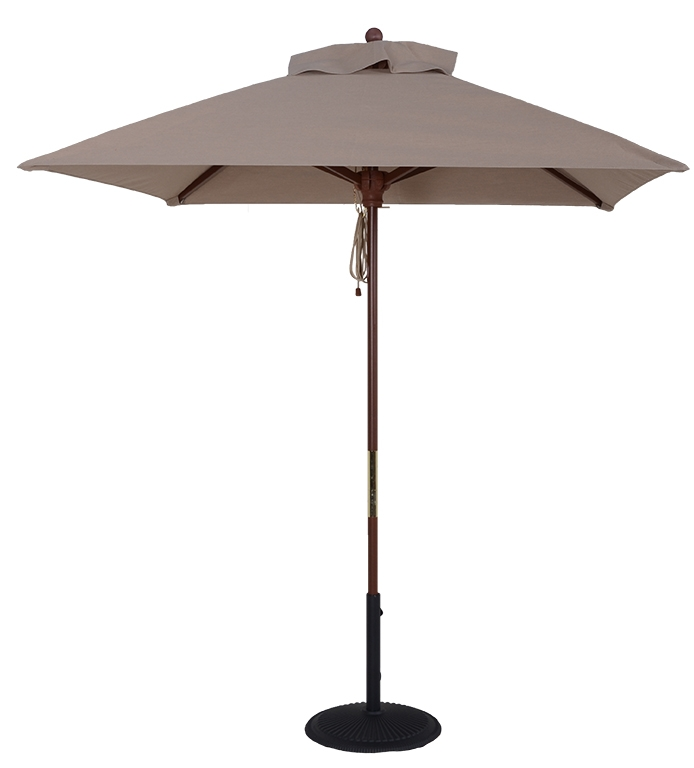 (BJ1011) 7 1/2 ft. Wood Market Square Umbrella