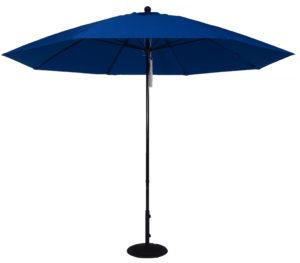 (EC11FPUL) 11 ft. Aluminum Market Umbrella w/ Double Pulley