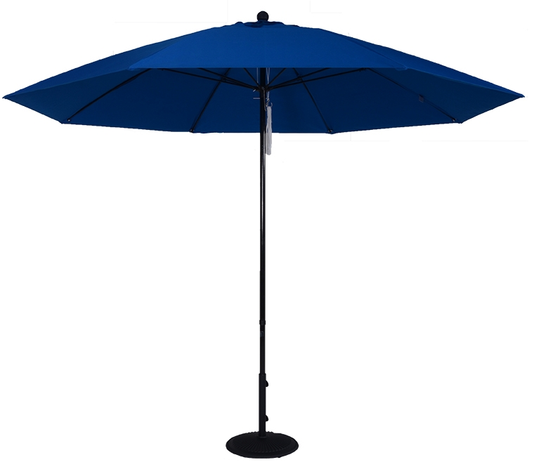 (EC11FPUL) 11 ft. Aluminum Market Umbrella w/ Double Pulley