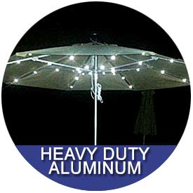 Heavy Duty Aluminum Umbrellas by East Coast Umbrellas