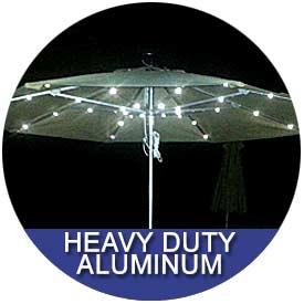Heavy Duty Aluminum Umbrellas by East Coast Umbrellas
