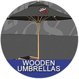 Wooden Umbrellas by East Coast Umbrellas