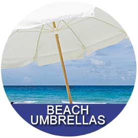 Beach Umbrellas by East Coast Umbrellas