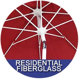 Residential Fiberglass Umbrellas by East Coast Umbrellas